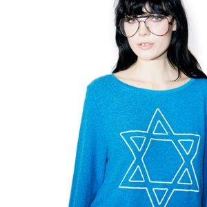 🆕 Wildfox David's Back Jewish Hanukkah Jumper